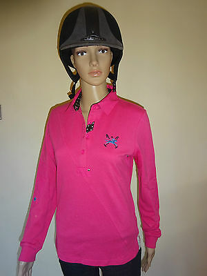 New ** Tottie Adele ** Ladies Rugby Top Horse Riding Shirt Ladies Size 8 Xsmall
