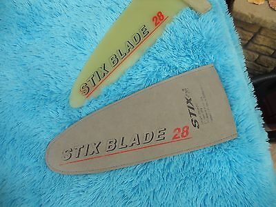 windsurfing fin Stix blade 28 with cover