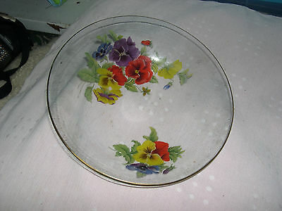 Floral Painted Glass Bowl