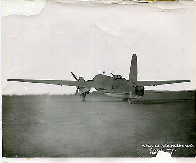 Official ministry aircraft photograph WARWICK A.S.R. Mk I (Tropical) Double Wasp