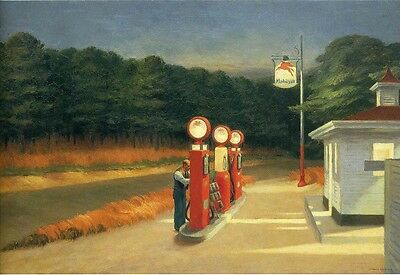 Edward Hopper - Gas Giclee Vintage Wall Art Poster Print Picture Giclee Artwork