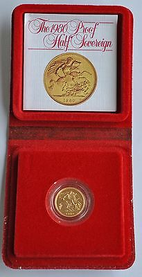 1980 Proof Half Sovereign, Coin Gold From Elizabeth Ii, Cased With Coa Fdc