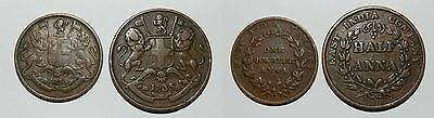 East India Company :  2 Old Coins Dated 1835