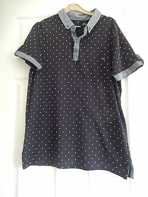 Mens Bench Short Sleeve Polo Shirt Size M