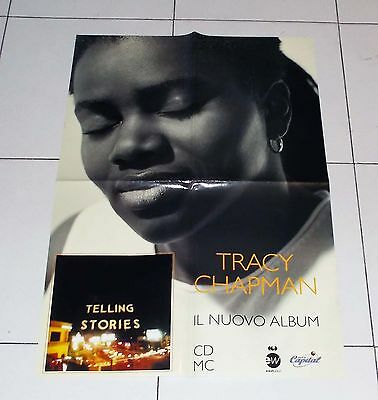 Manifesto Promo TRACY CHAPMAN Telling Stories POSTER Affiche advertising