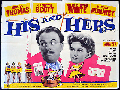 HIS AND HERS 1961 Terry-Thomas, Janette Scott, Wilfrid Hyde-White QUAD POSTER