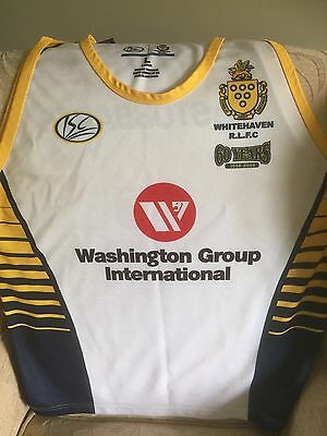 Men's Rugby League Vest ISC Large Whitehaven 60 Years 1948-2008