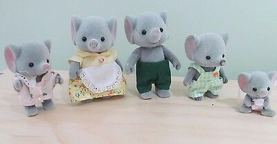 Sylvanian Elephant Family - The Trunk Family