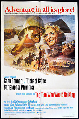 MAN WHO WOULD BE KING 1975 Sean Connery, Michael Caine US 1-SHEET POSTER