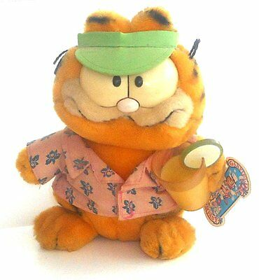 "Vintage 1980's Garfield The Cat - PINA COLADA - 9"" Plush Toy - Jim Davis (G003)"
