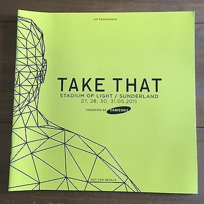 Take That - Progress VIP Tour Programme