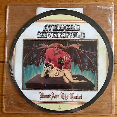 """Avenged Sevenfold - The Beast And The Harlot 7"""" Picture Disc Vinyl"""