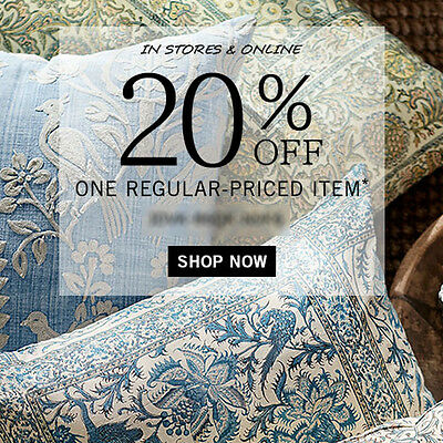 20% Off POTTERY BARN One Item Promo Code + Furniture Expires 6/30 15 10
