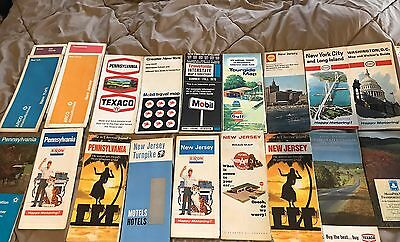 Lot of Vintage US States Road Maps 20+ Lot 2 Esso Flying A Texaco Exxon