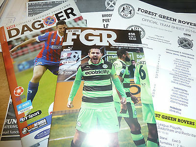 Forest Green Rovers V Dagenham 2016/17 Both Semi Final Play Offs Inc Teamsheets