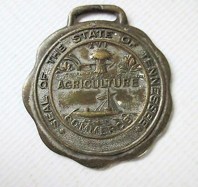 Seal Of The State Of Tennessee Medal Medallion Key Fob