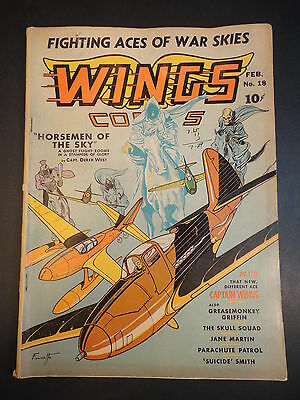 1942 WINGS COMICS #18 WWII Aviation Good or better