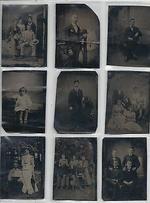 Fantastic Collection Of Twelve  Tintype Photos