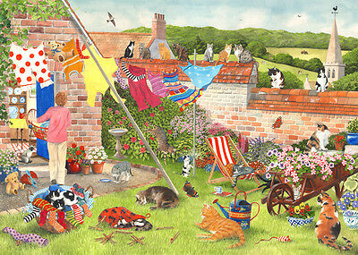 The House Of Puzzles - 1000 PIECE JIGSAW PUZZLE - Cat's Chorus