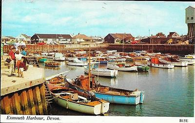 Exmouth Harbour, Devon  -Posted Postcard