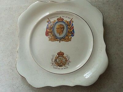 CORONATION Square Plate - King Edward VIII - May 12th, 1937, 8 inches
