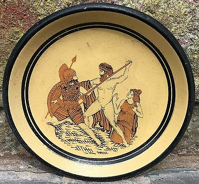 Repro Ancient Greek Hand-Painted Dish - Small Terracotta Bowl 5