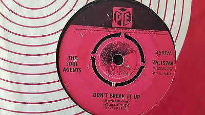 Ultra Rare  The Soul Agents   Don't Break Up Pye 7N.15768 1965 Original Issue