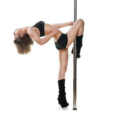 [Occasion] Barre De Pole Dance Klarfit Fitness Sport Ø 50Mm Acier Chrome Dvd
