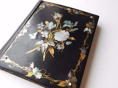 Lovely Antique Victorian Scrap Album Book Scraps Drawings Poems Postcards Etc