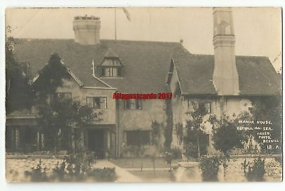Sussex Manor House Bexhill on Sea Real Photo Vintage Postcard