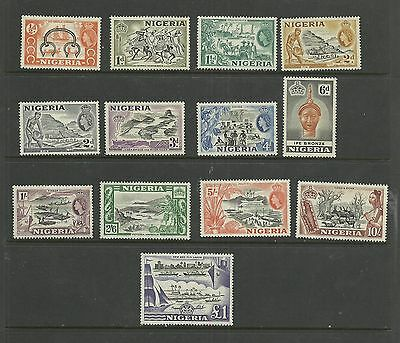 NIGERIA 1953  QE2   First Definitives   mounted mint set