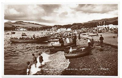 Early  LARGS The Boating Beach Ayrshire Photo   Postcard