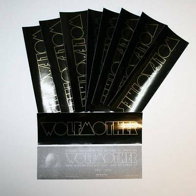 WOLFMOTHER Cosmic Egg BLACK & GOLD 10 PACK STICKERS NEW