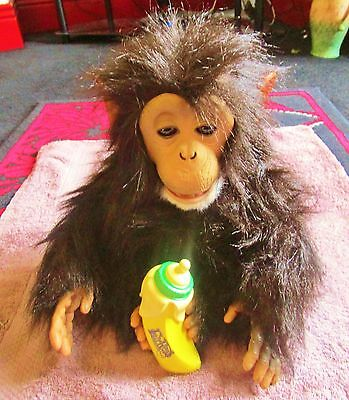 Furreal Friends 10 Inch Interactive Chimp / Monkey Cuddle With Banana 2008