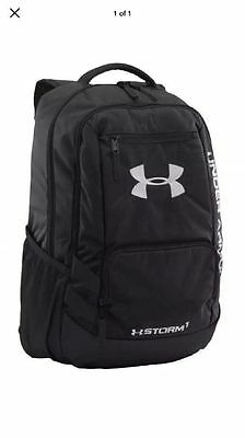 Under Armour Team Hustle Backpack Bag - Black - FREE SHIP - NEW - 1272782-001