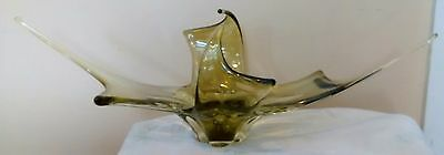 Chalet glass big 24 inch stretched olive green piece beautiful big size