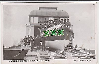 Tansley Postcard - Cromer's Motor Lifeboat And Crew
