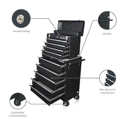 335 Us Pro Tools Black Affordable Tool Chest Rollcab Steel Box Roller Cabinet