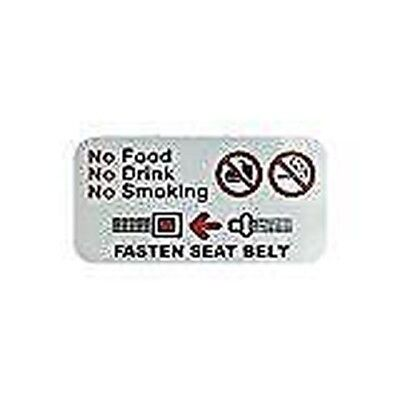 No Food No Drink No Smoking, Fasten Seat Belt Sticker For Taxis and Minicabs