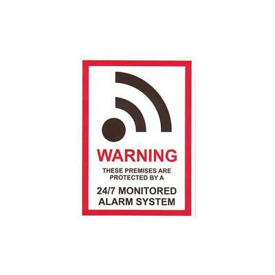 WARNING These Premises Are Protected By A 24/7 Monitored Alarm System Sticker