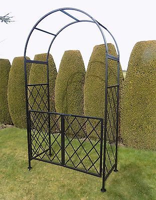 Conistone Metal Garden Arch with Gates - Rose Arches and Gate Ways - Archway