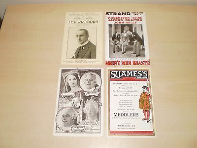 1920s Original Four London Theatres  Advertising Postcards All Illustrated