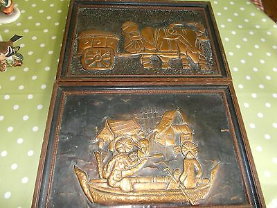 Antique Hammered Copper Japanese Pictures