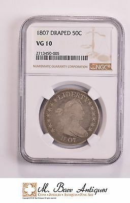 VG10 1807 Draped Bust Half Dollar - Graded NGC *5387
