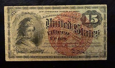 {BJSTAMPS} 1863 15 Cent Fractional 4th ISSUE FR# 1271