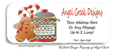 Country Primitive Gingerbread Cookie Jar Personalized Return Address Labels