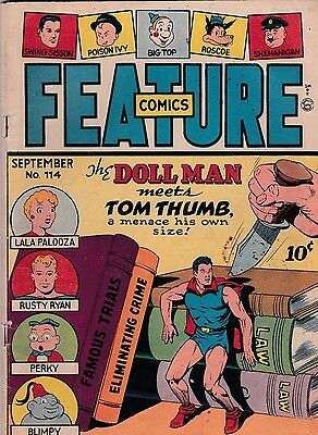 Feature Comics  # 114   1947   The Doll Man