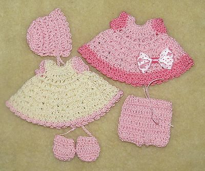 """LOT Crochet Outfits fits 5 1/2 to 6"""" OOAK Polymer, Silicone Bisque Babies #19"""