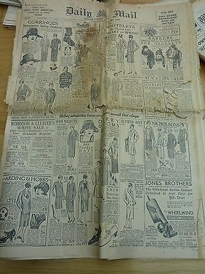 1926 March 2 Daily Mail Newspaper Original Complete 16 Pages