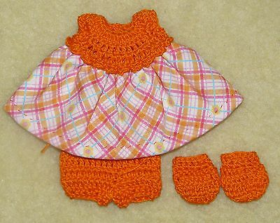 """Cotton Print Outfit fits 5 1/2 to 6"""" Polymer Clay Silicone Babies #23"""
